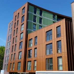 Copper Cladding on apartments in london