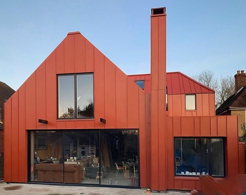 Zinc roof