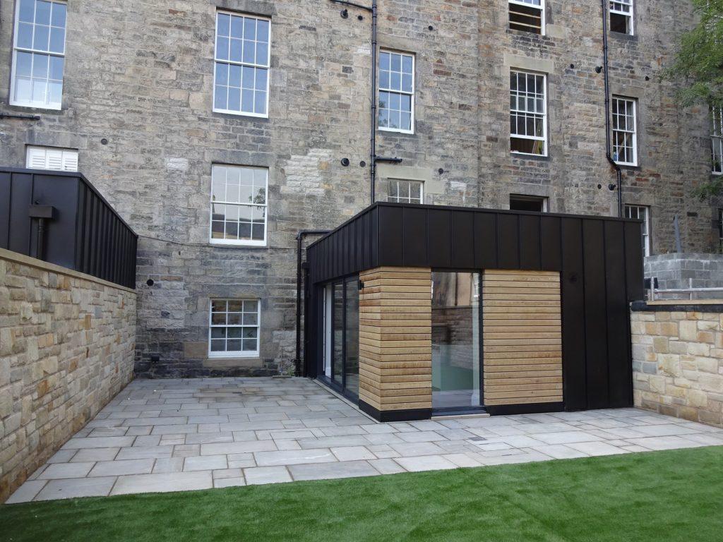 Extension zinc roof Edinburgh