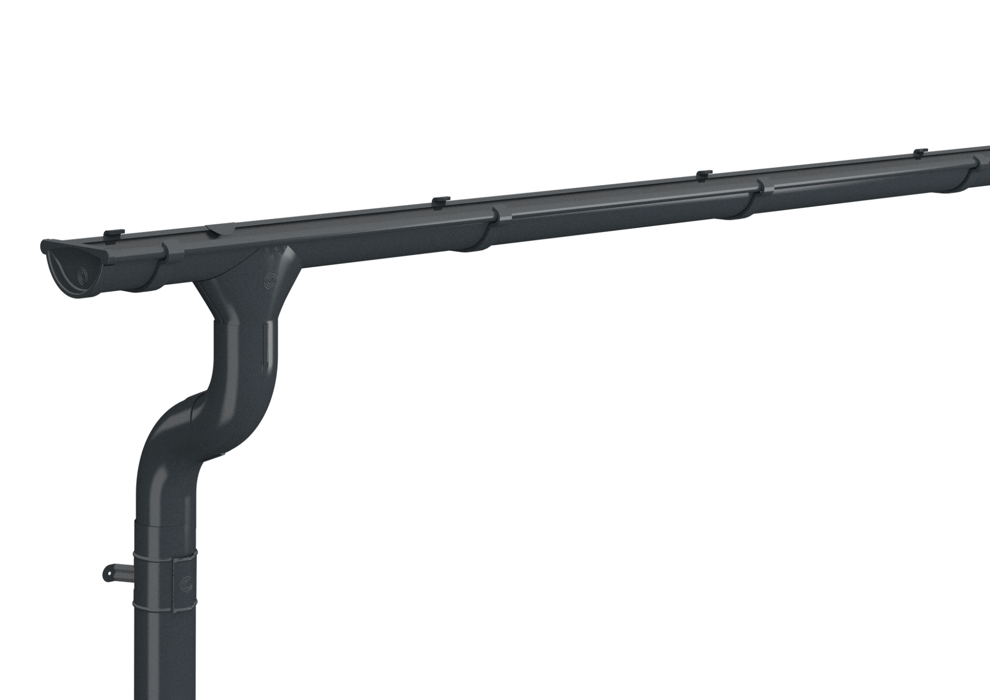 Anthracite Grey Lindab Gutter(7016) 3