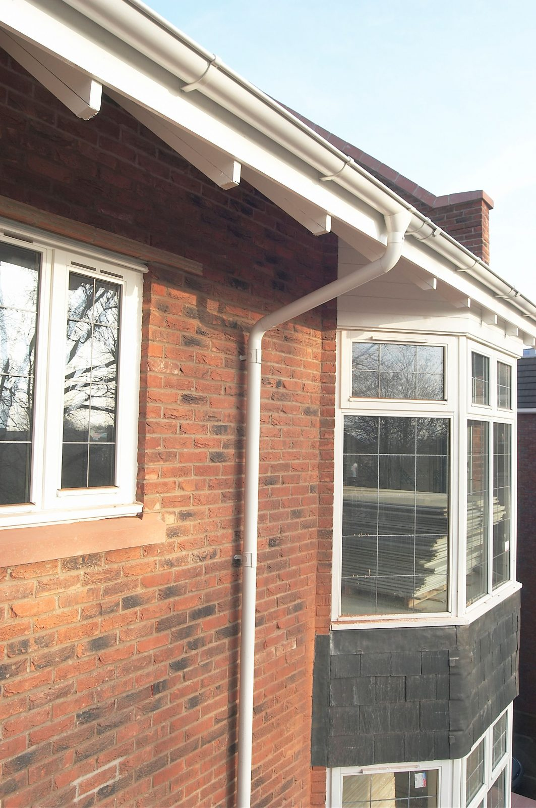 Antique White Lindab gutter