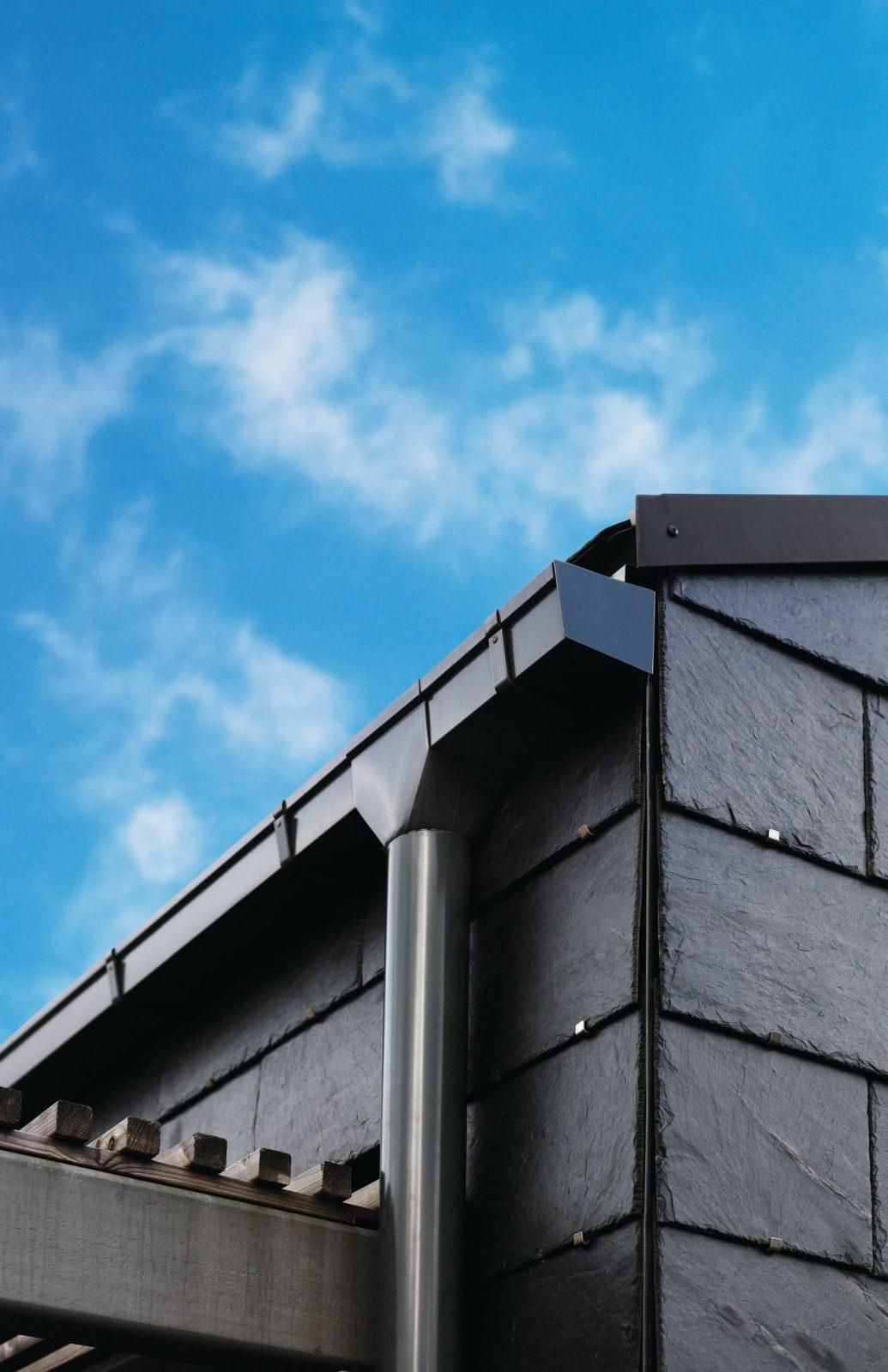 Dark grey Lindab gutter 2